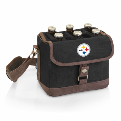 Pittsburgh Steelers - Beer Caddy Cooler Tote with Opener Perspective: front
