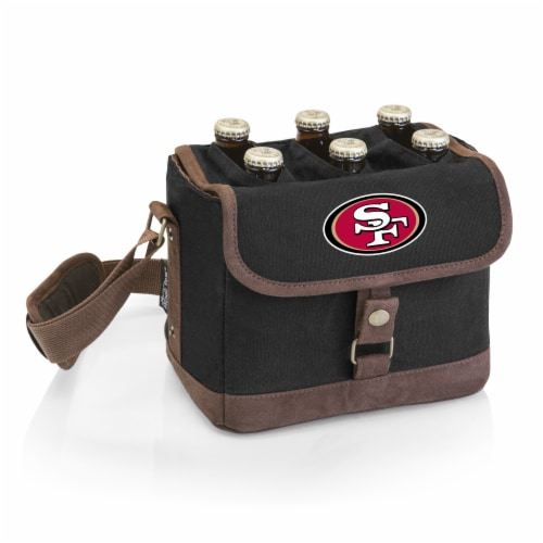 San Francisco 49ers - Beer Caddy Cooler Tote with Opener Perspective: front