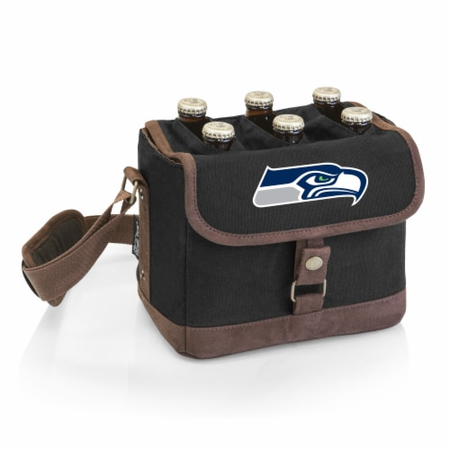 Seattle Seahawks Beer Caddy Cooler Tote Perspective: front