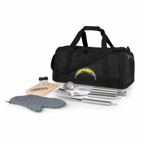Los Angeles Chargers - BBQ Kit Grill Set & Cooler Perspective: front