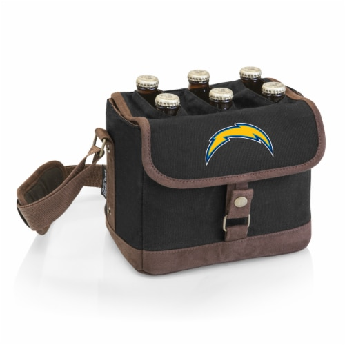 Los Angeles Chargers - Beer Caddy Cooler Tote with Opener Perspective: front