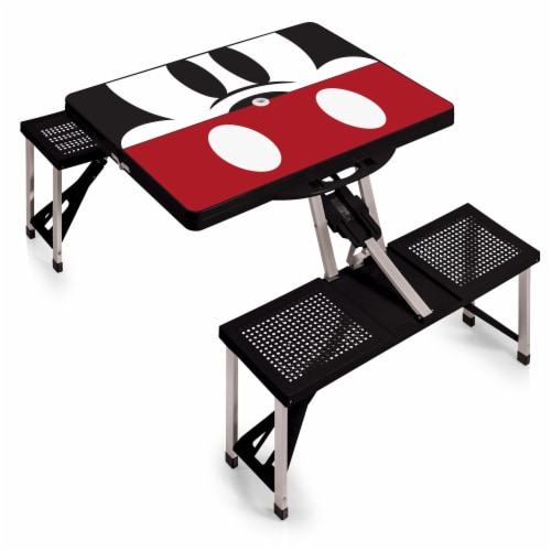 Disney Mickey Mouse - Picnic Table Portable Folding Table with Seats, Black Perspective: front