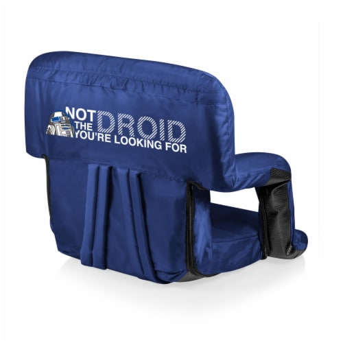 Star Wars R2-D2 - Ventura Portable Reclining Stadium Seat, Navy Blue Perspective: front