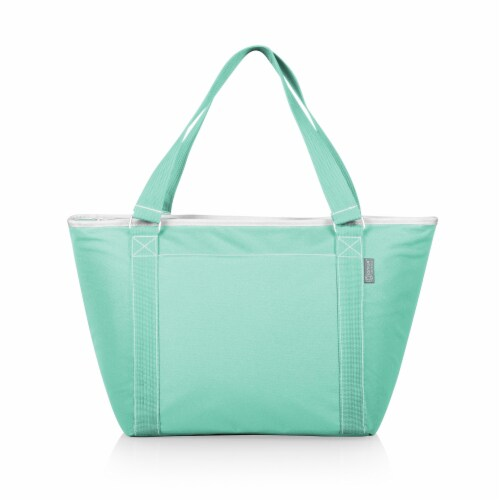 Topanga Cooler Tote Bag, Teal Perspective: front