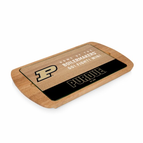 Purdue Boilermakers - Billboard Glass Top Serving Tray Perspective: front