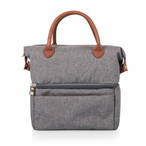 Urban Lunch Bag, Heathered Gray Perspective: front
