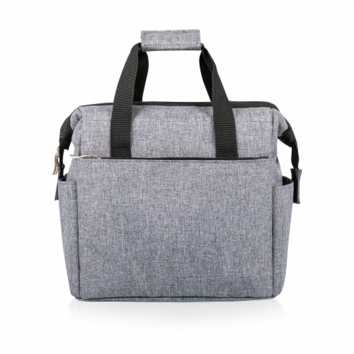 On The Go Lunch Cooler, Heathered Gray Perspective: front
