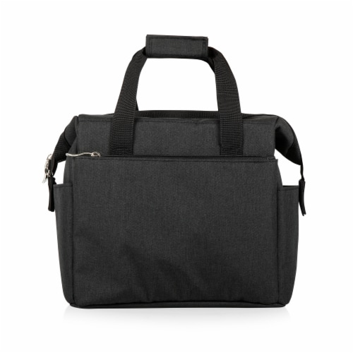 On The Go Lunch Cooler, Black Perspective: front