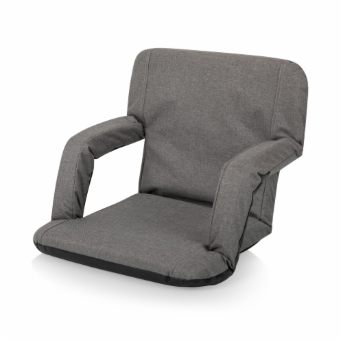 Ventura Portable Reclining Stadium Seat, Heathered Gray Perspective: front