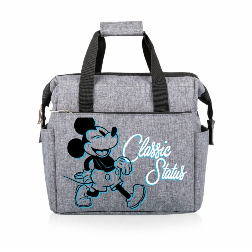 Disney Mickey Mouse - On The Go Lunch Cooler, Heathered Gray Perspective: front