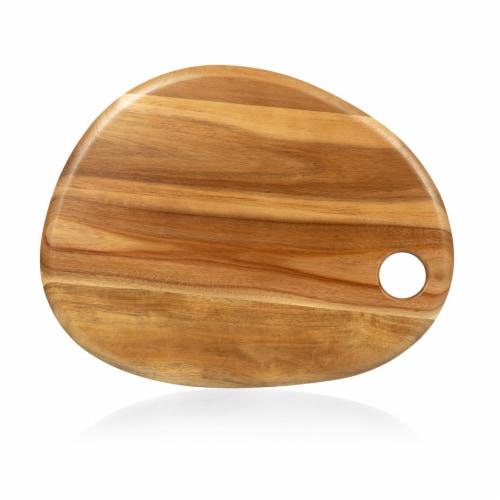 """Pebble Shaped Acacia Serving Board 18"""" x 15"""", Natural Acacia Perspective: front"""