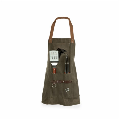 Atlanta Falcons - BBQ Apron with Tools & Bottle Opener Perspective: front