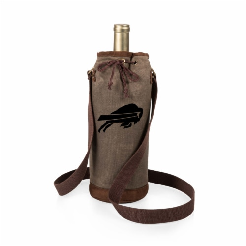Buffalo Bills - Waxed Canvas Wine Tote Perspective: front