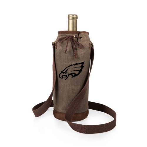 Philadelphia Eagles - Waxed Canvas Wine Tote Perspective: front