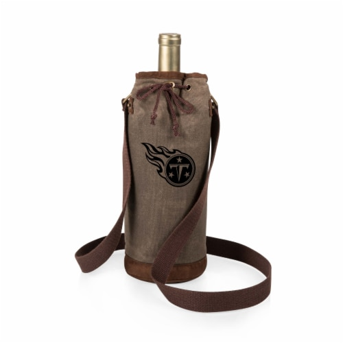 Tennessee Titans - Waxed Canvas Wine Tote Perspective: front