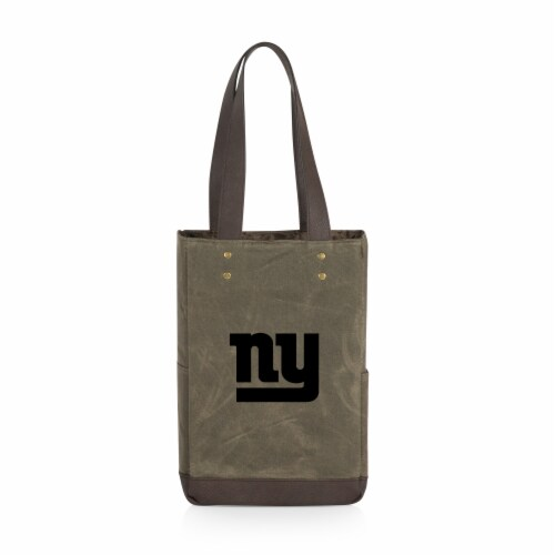 New York Giants - 2 Bottle Insulated Wine Cooler Bag Perspective: front