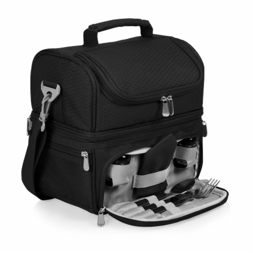 Pranzo Lunch Cooler Bag, Black Perspective: front