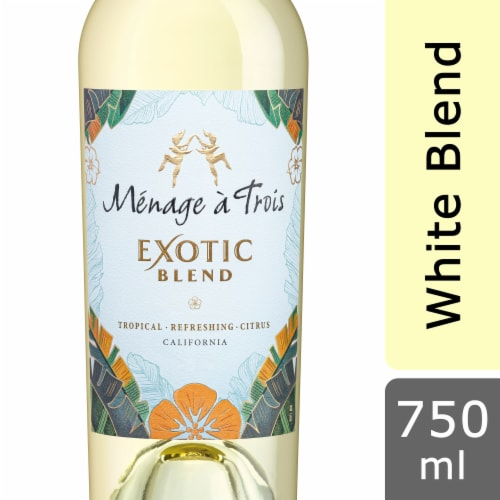 Menage a Trois White Blend Wine Perspective: front
