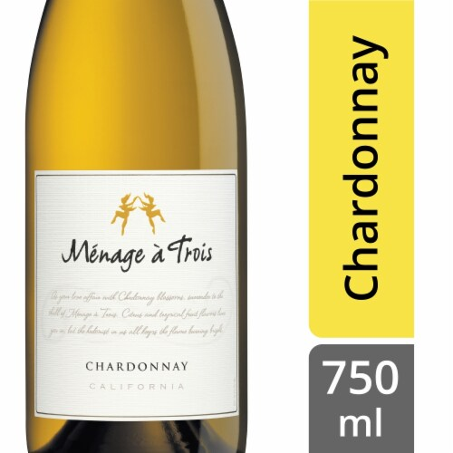 Menage a Trois Chardonnay Perspective: front
