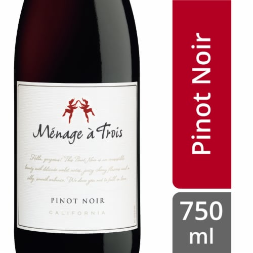 Menage a Trois Pinot Noir Red Wine Perspective: front
