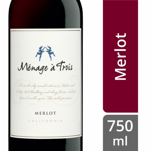 Menage a Trois Merlot Perspective: front