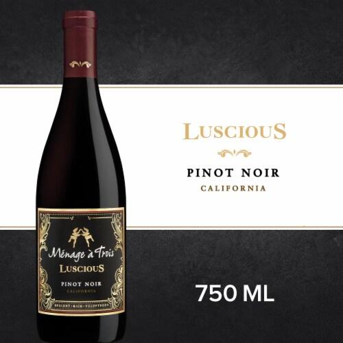 Menage a Trois Luscious Pinot Noir Perspective: front
