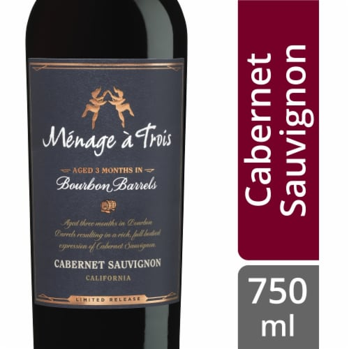Menage a Trois Bourbon Barrel Cabernet Sauvignon Perspective: front