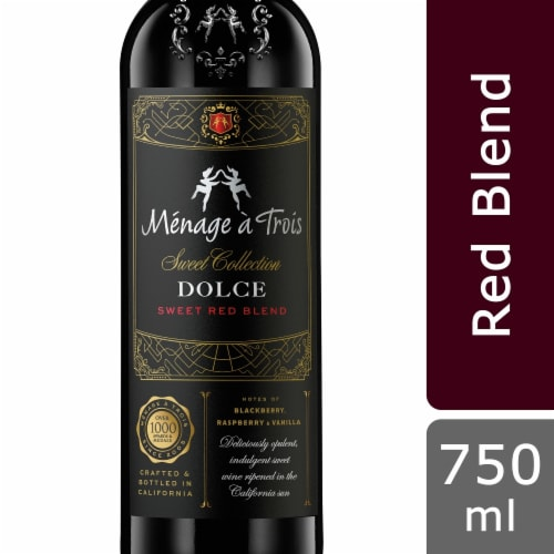 Menage a Trois Dolce Red Wine Perspective: front