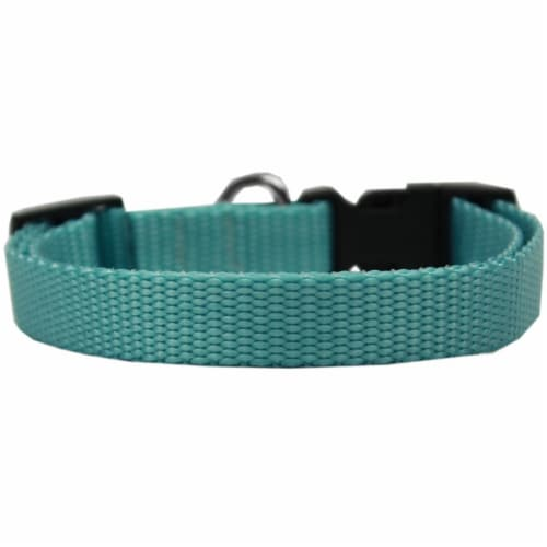 Mirage Pet 124-1 OBCT Plain Nylon Cat Safety Collar, Ocean Blue Perspective: front