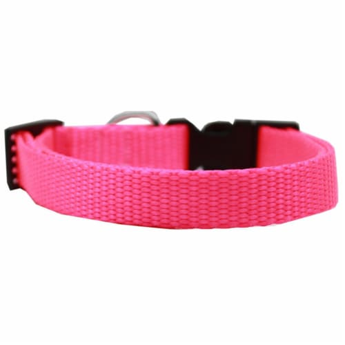 Mirage Pet 124-1 HPKCT Plain Nylon Cat Safety Collar, Hot Pink Perspective: front