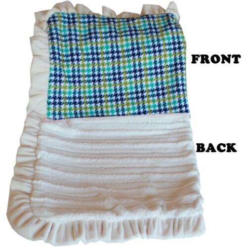 Mirage Pet 500-132 AqPdFL Luxurious Plush Pet Blanket, Aqua Plaid - Full Size Perspective: front