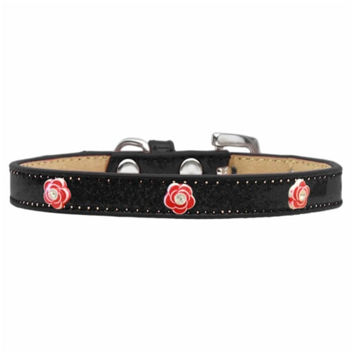 Mirage Pet Products Red Rose Widget Dog Collar Ice Cream Perspective: front