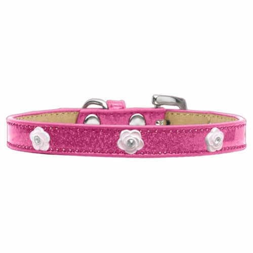 Mirage Pet Products Light Pink Rose Widget Dog Collar Ice Cream Perspective: front