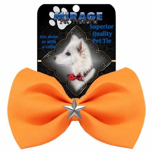 Silver Star Widget Pet Bowtie Navy Blue Perspective: front