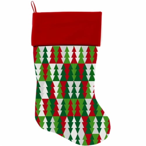 Mirage Pet 1286-STCK Classy Christmas Trees Christmas Stocking Perspective: front