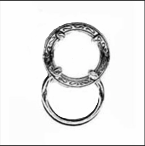 Magnetic Eyeglass Holder Clip- Round Silver Perspective: front