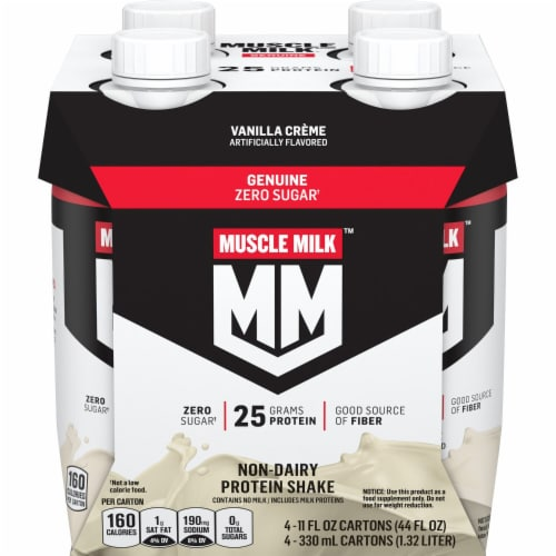 Muscle Milk Genuine Non-Dairy Vanilla Creme Protein Shake Perspective: front