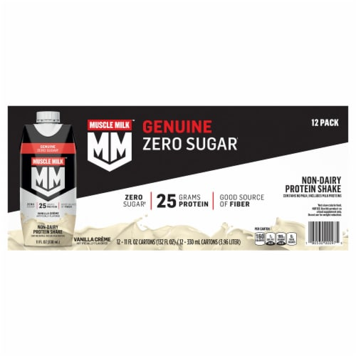 Muscle Milk Vanilla Creme Non-Dairy Protein Shakes Perspective: front