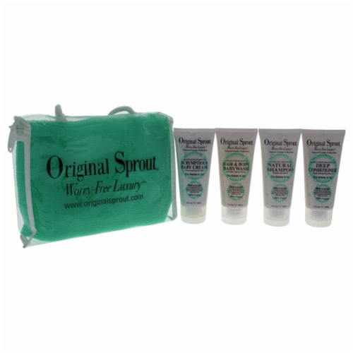 Original Sprout Original Sprout Deluxe Kit 3oz Natural Shampoo, 3oz Hair Body Baby Wash, 3oz Perspective: front