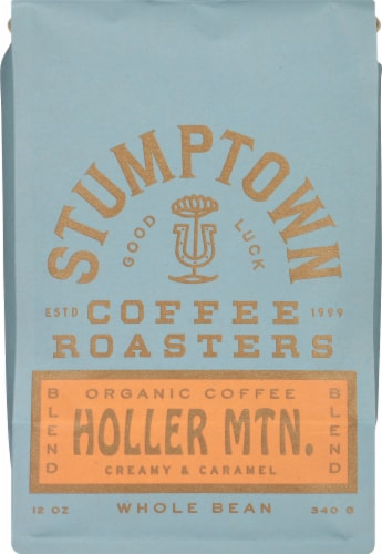 Stumptown Coffee Organic Holler Mountain Whole Bean Coffee Perspective: front