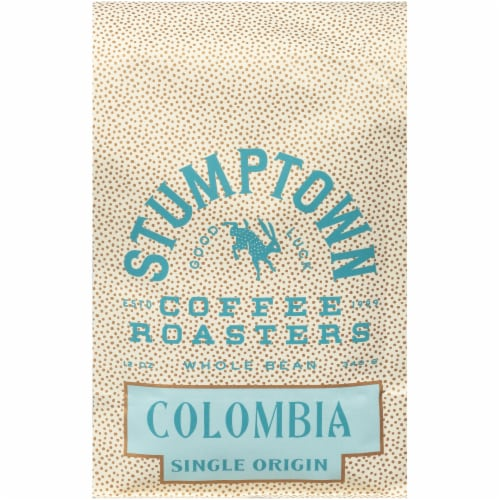 Stumptown Colombia Single Origin Whole Bean Coffee Perspective: front