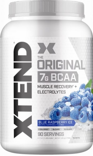 Xtend  The Original BCAA   Blue Raspberry Ice Perspective: front