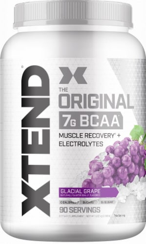 Xtend  The Original BCAA   Glacial Grape Perspective: front