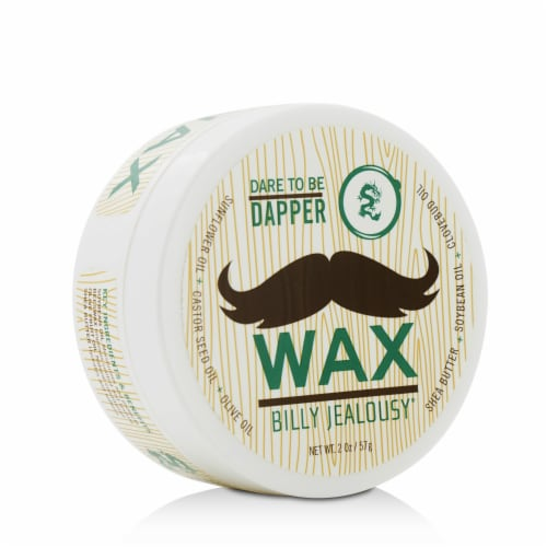 Bulletproof Dare to be Dapper by Billy Jealousy for Men - 2 oz Mustache Wax Perspective: front