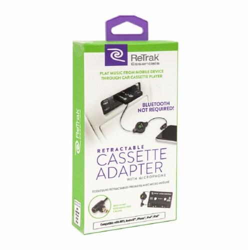 ReTrak Retractable Cassette Stereo Adapter Perspective: front