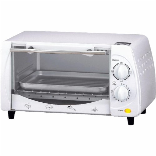 Brentwood TS-345W 9-Liter Toaster Oven and Broiler - White Perspective: front