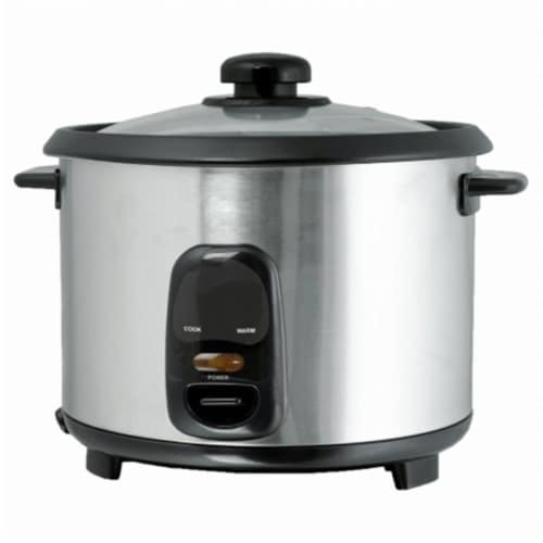 Brentwood TS-15 8 Cup - 1.5 Liter - Rice Cooker - Stainless Steel Perspective: front