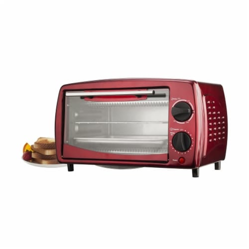 Brentwood Toaster Oven - Red Perspective: front
