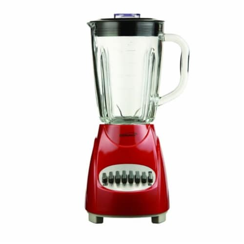 Brentwood JB920R 12 Speed Blender Glass Jar -Red Perspective: front