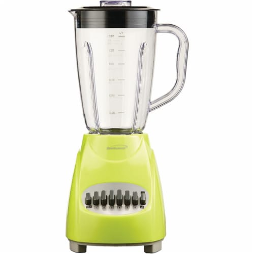 Brentwood JB-220G  GRN 12 Speed Blender Plastic Jar - Lime Green Perspective: front